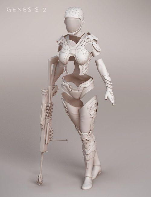 Scifi Sniper Suit for Genesis 2 Female(s) | 3D Models for