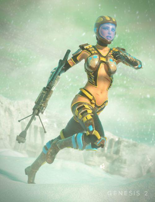 Scifi Sniper Suit for Genesis 2 Female(s)