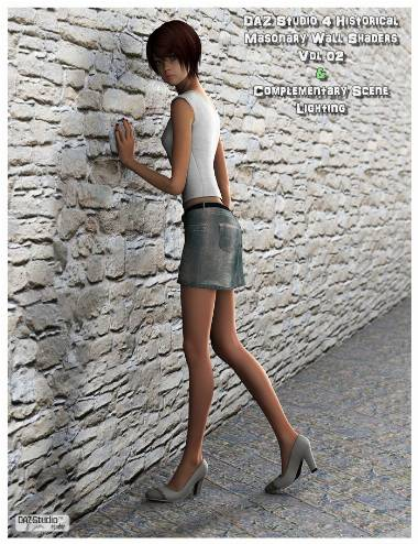 Historical Masonry DAZ Studio Shaders Vol 2