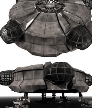 Void Prime: Grey Alien Recon Ship Construction Kit