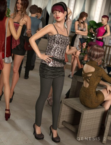 Girl's Night Outfit for Genesis 2 Female(s)