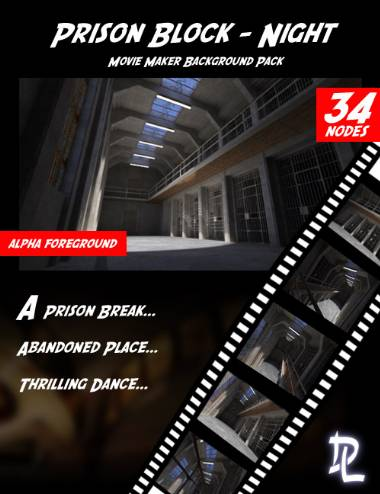 Movie Maker - Prison Block Night Background Pack