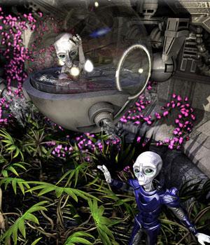 Void Prime: Grey Alien Recon Ship Construction Kit - Living Quarters