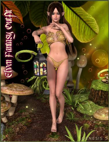 Elven Fantasy Outfit for Genesis 2 Female(s)