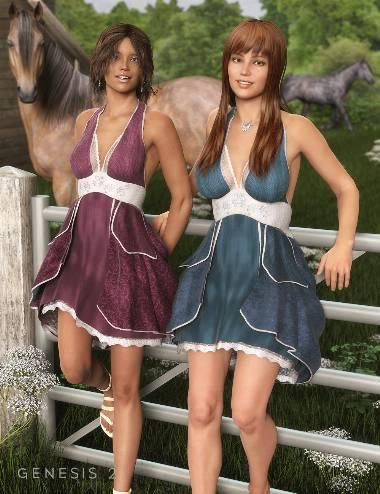 Spring Textures for Antoinette Dress