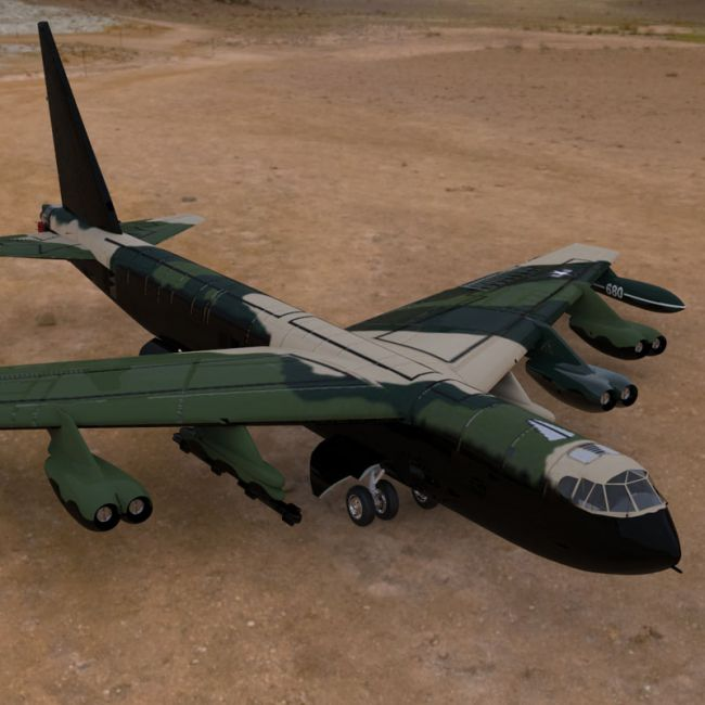B-52 Stratofortress (for Poser)
