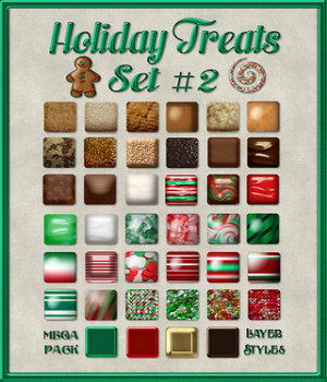 Holiday Treats Layer Styles Set #2 MegaPack