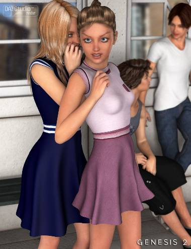 Skater Dress for Genesis 2 Female(s)