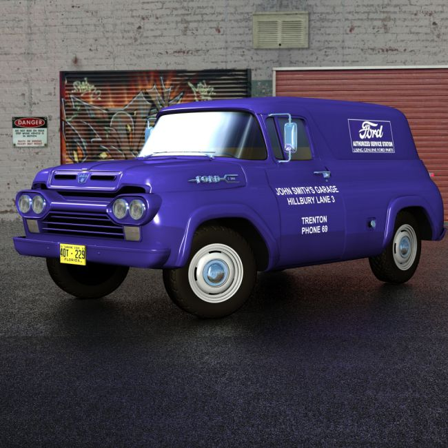 1970 Ford F100 >> Ford F100 Panel 1960 | Transportation for Poser and Daz Studio