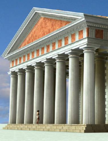 Roman Doric Ornamental Temple Kit