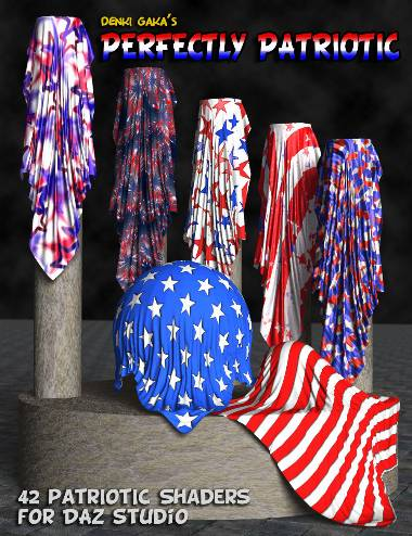 Perfectly Patriotic Cloth Shaders for DAZ Studio