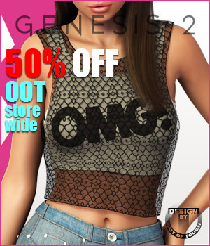 Fashion Blizz- Layered Tanktop for Genesis 2 Female(s)