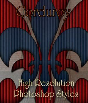 Corduroy Photoshop Styles