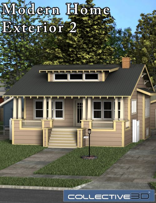 Collective3d Modern Home Exterior 2