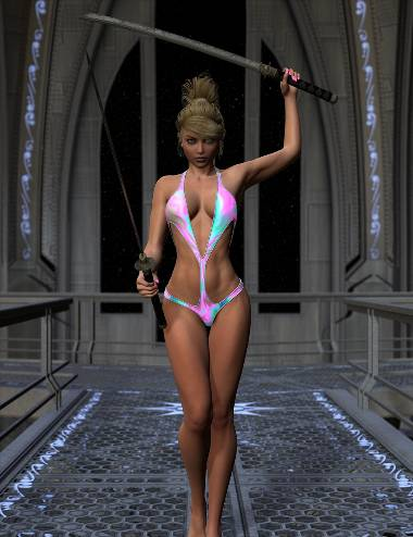 Sci-Fi & Magic Textures for Superhero Monokini