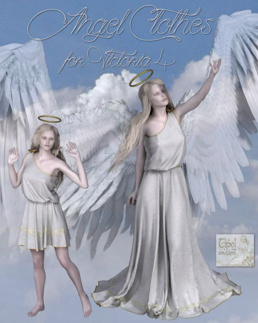 Angel Clothes For V4 Clothing For Poser And Daz Studio