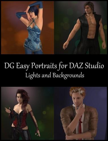 DG Easy Portrait Lights for DAZ Studio