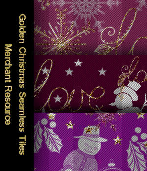 FB Holidays- Golden Christmas Seamless Tiles / Merchant Resource