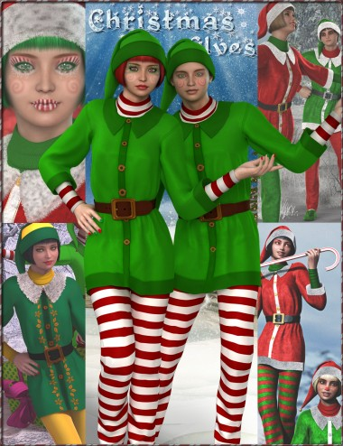Christmas Elves Bundle - HD Characters, Outfit, Expansion and Poses