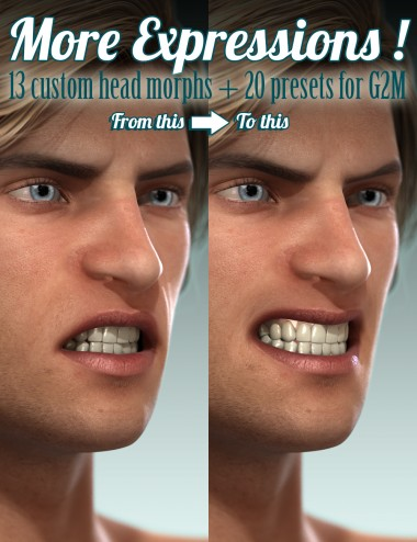 MORE Expressions for Genesis 2 Male(s)