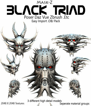 Black Triad .OBJ Pack