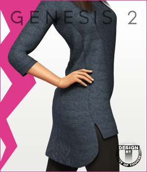 Fashion Blizz- Sweater Dress for Genesis 2 Female(s)