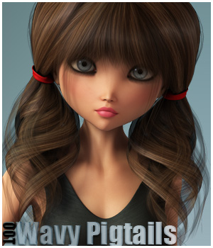 Wavy Pigtails Hair and OOT Hairblending