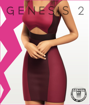Fashion Blizz- Triangle Dress for Genesis 2 Female(s)
