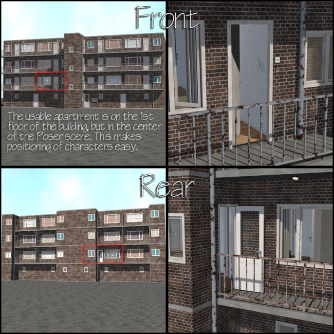 Low Budget Apartments: Architecture For Poser And Daz Studio