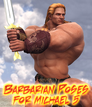 Barbarian Poses for Michael 5