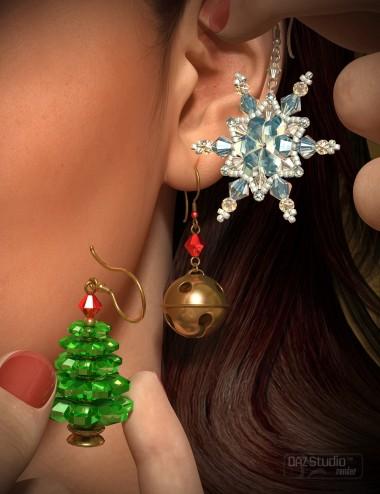 Christmas Earrings for Genesis 2 Female(s)