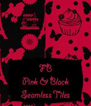 FB Pink And Black Seamless Tiles / Merchant Resource