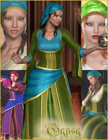 Gypsy Bundle - HD Character, Outfit, Hair and Poses