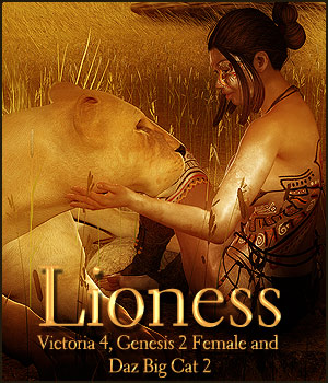 Lioness for V4, G2F & Daz Big Cat 2