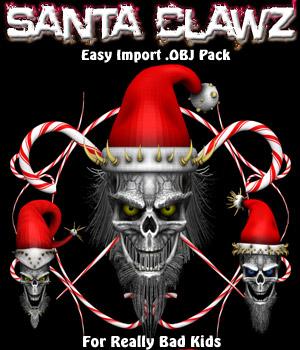 Santa ClawZ .OBJ Pack