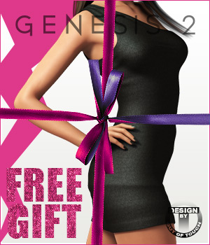 Fashion Blizz- One Shoulder Dress for Genesis 2 Female(s)