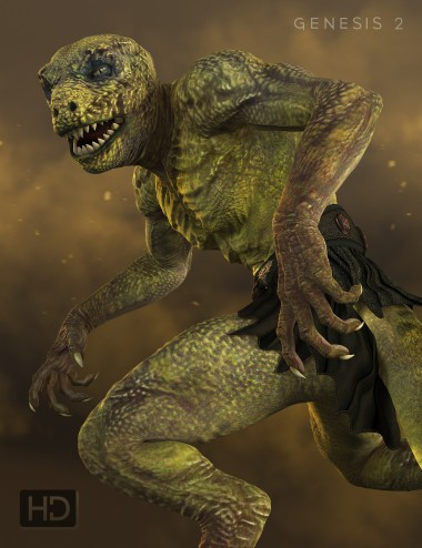 Reptilian 6 HD for Genesis 2 Male(s)