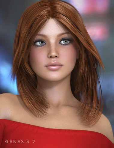 Flirty Hair for Genesis 2 Female(s)