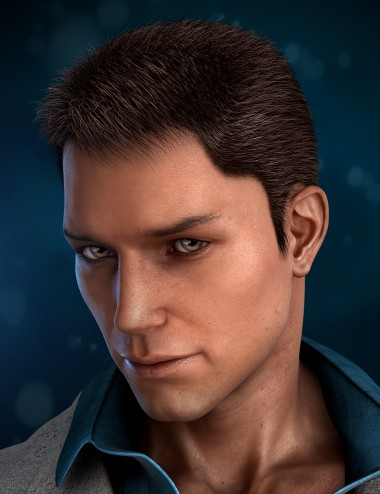 Real Short Hair for Genesis 2 Male(s)