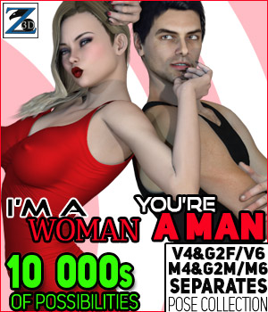 Z I'm A Woman You're A Man- Separates Collection- V4-V6-G2F-M4-M6-G2M