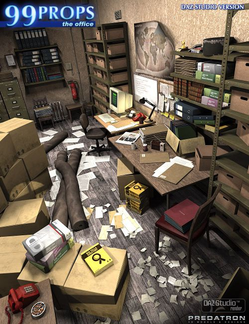 99 DAZ Studio Props - The Office