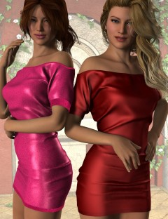 Short Sleeve Mini Dress for Genesis 2 Female(s)