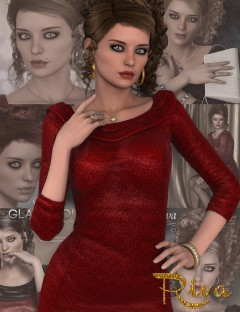Glamorous Riva - Character, Hair, Outfit, Accessories and Poses Bundle