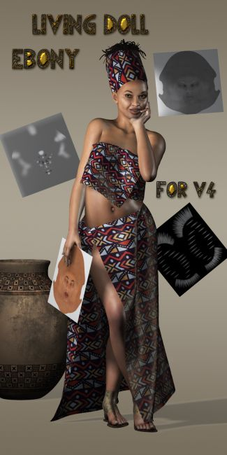 Living Doll Ebony for V4