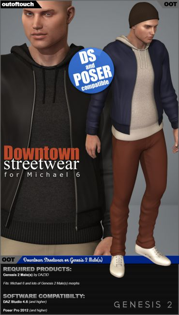 Downtown Streetwear for Michael 6 - Genesis 2 Male(s)