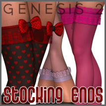 SuperHose Infinite Stocking Ends for Genesis 2 Female(s)