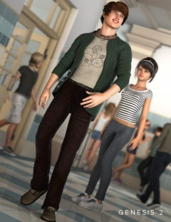 Trendy College Outfit for Genesis 2 Male(s)