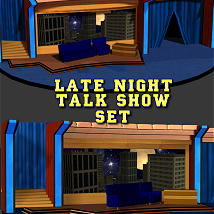Lat Night Talk Show Set