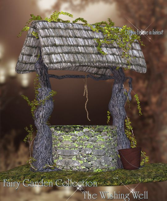 Fairy garden collection wishing well props scenes and for Garden well designs
