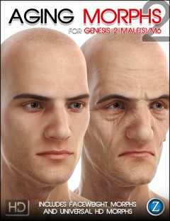 Aging Morphs 2 for Genesis 2 Male(s)/M6 HD